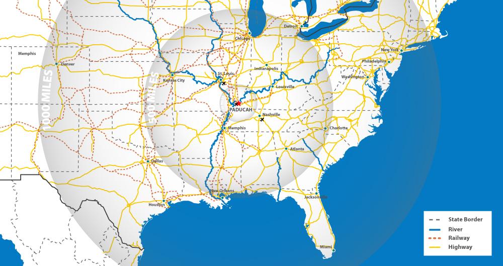 Riverport Authority | regional map