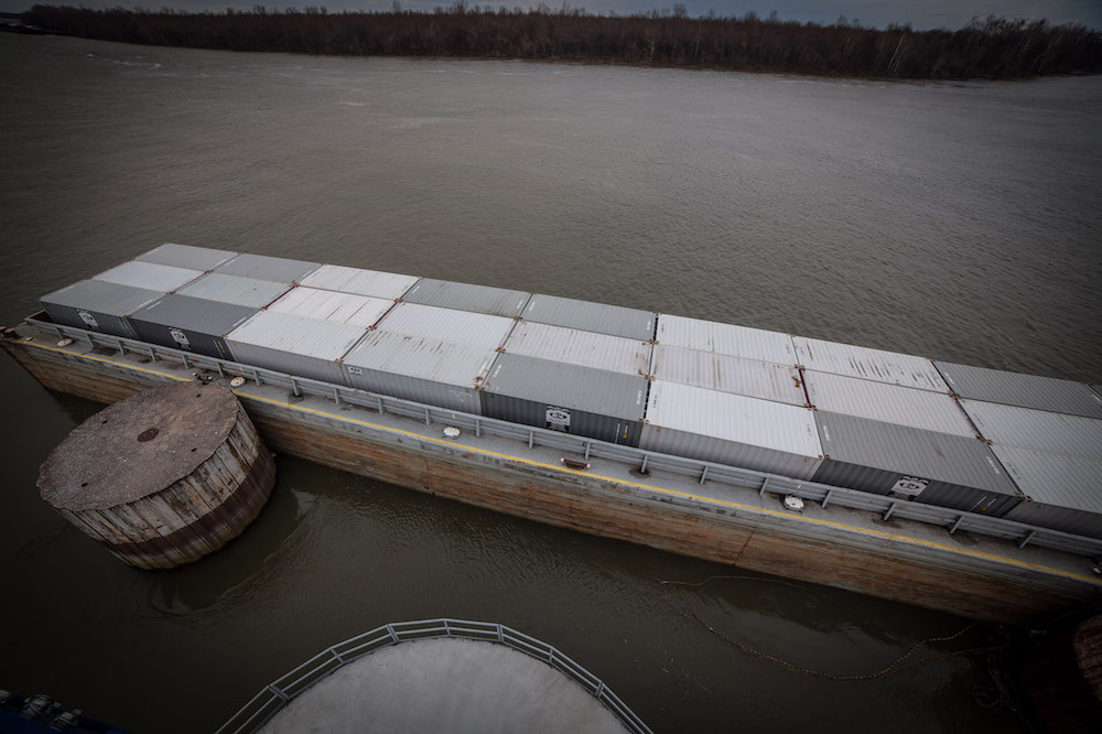 Riverport Authority | Container on Barge